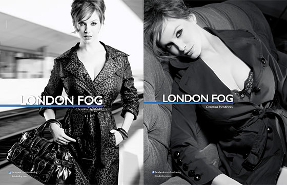 Cristina Hendricks London Fog